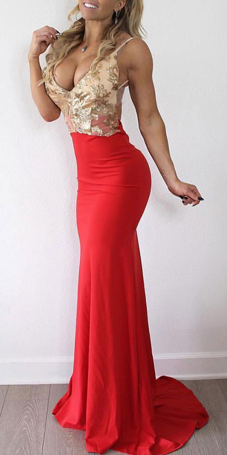 Shayla red slinky backless maxi dress | Find sexy valentines day clothes and valentines day fashion. 31+ Cute Valentines Day Outfits for Every Type of Date. Valentine style via higiggle.com #valentine #fashion #outfits #love