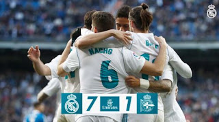 Real Madrid vs Deportivo La Coruna 7-1 Video Goals & Highlights