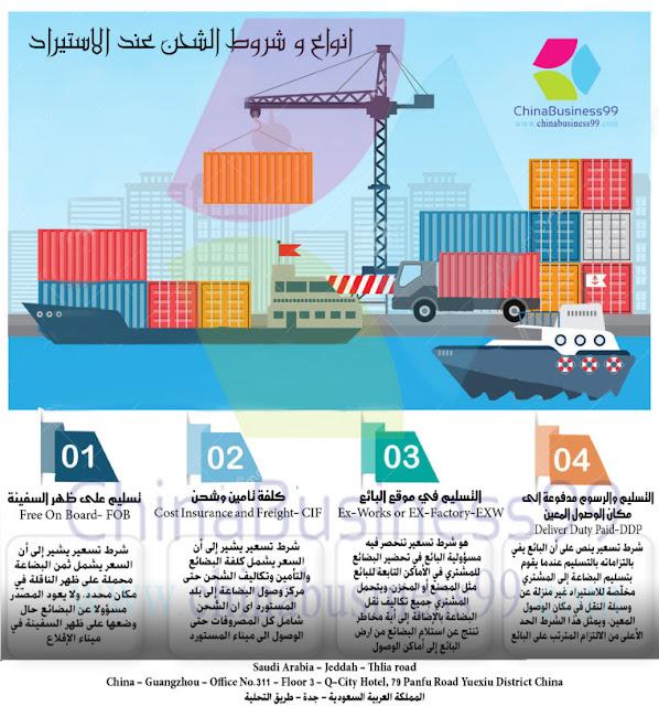 معلومات الشحن للمستورد السعودي