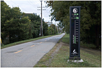 Bicycle Counter along Bike Trail