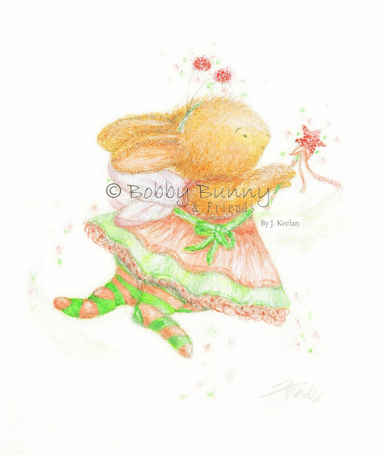 Fairy Bun Bella Character - Copyright Bobby Bunny & Friends - By Jennifer Keelan Illustration 2010
