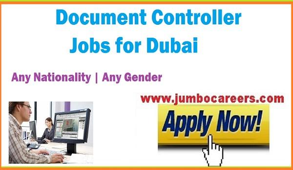 New jobs in Dubai, Document controller job vacancies in Dubai UAE,