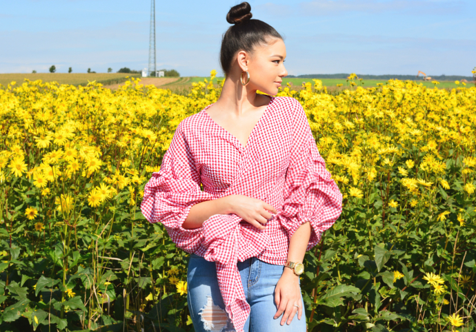 Gingham, Red Ride Slow Gingham Top, Glistening Jeans, Fashion Nova