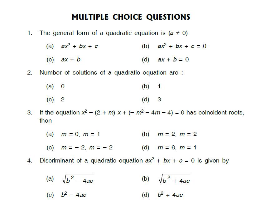 Study notes for Delhi Public school: Quadratic Equations ...