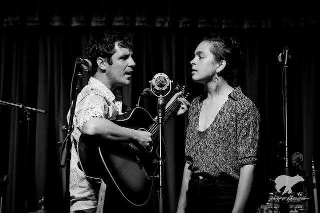 Joseph Terrell and Libby Rodenbough sing a duet.