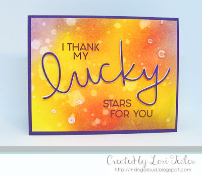Lucky card-designed by Lori Tecler/Inking Aloud-stamps and dies from Concord & 9th
