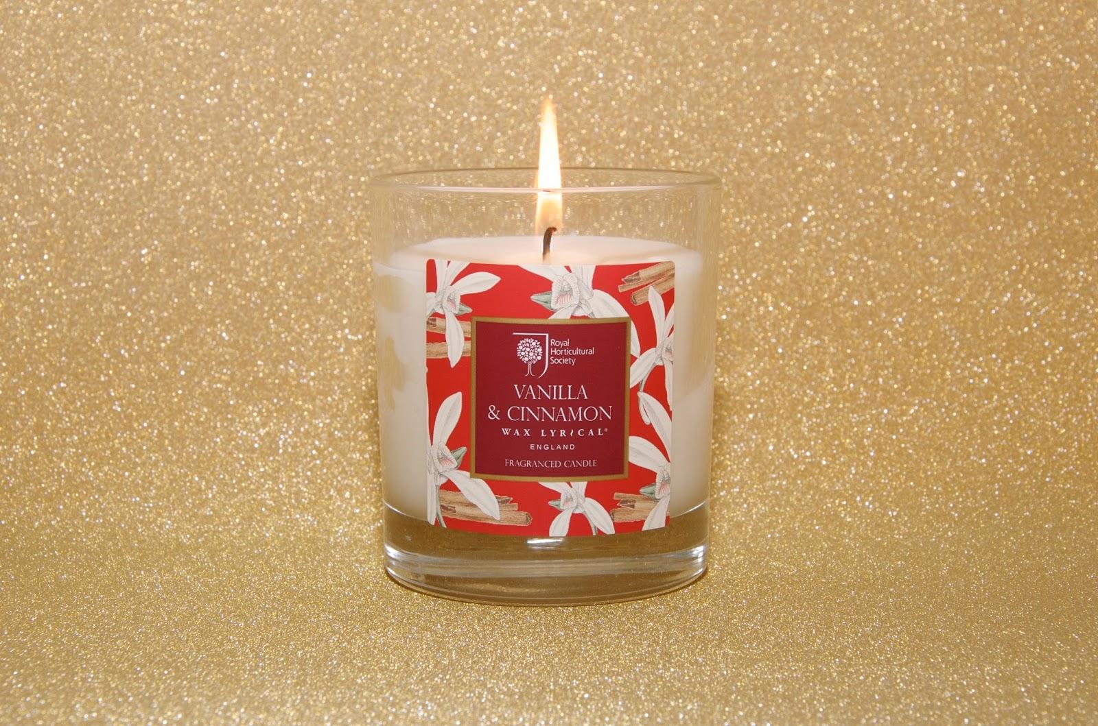 Vanilla and Cinnamon RHS Christmas Candle