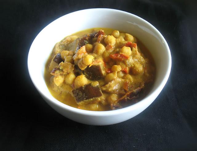 midlle eastern chickpea eggplant stew