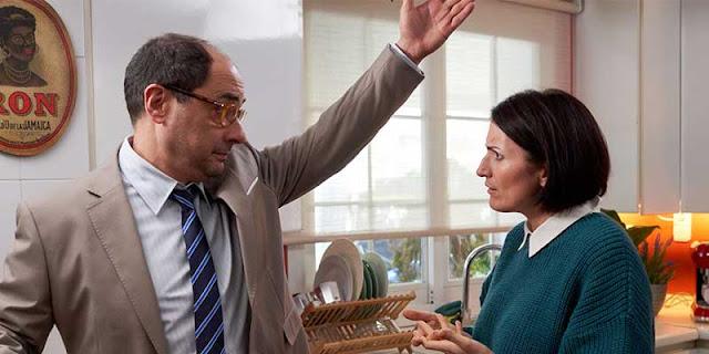 Jordi Sánchez y Silvia Abril en el rodaje de la película 'Bajo el mismo techo'