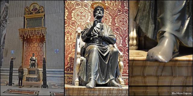 Resultado de imagen de pie estatua de san pedro en el vaticano
