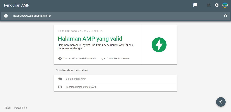 Iklan Adsense telah Support AMP