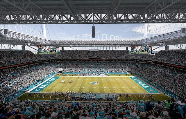 Onde comprar os ingressos para jogos do Miami Dolphins e NFL