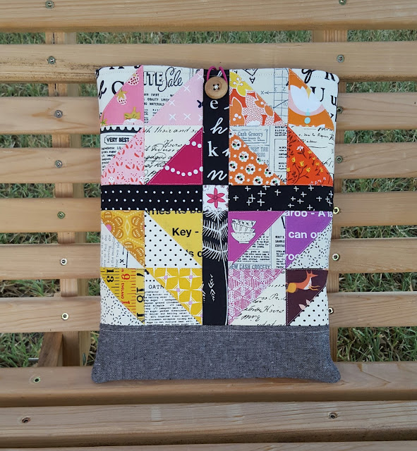 Smoothie Block Laptop Case by Heidi Staples of Fabric Mutt
