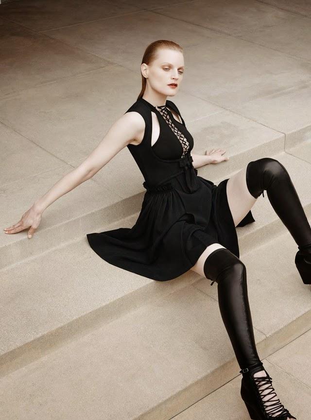 lace up, black, 10 Magazine