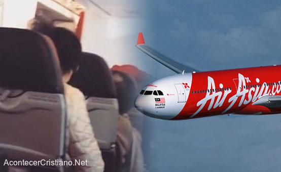 Pasajeros hacen oración en avión tras falla mecánica