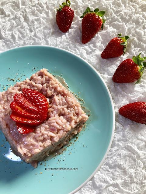 Risotto con fresas vegano muy facil