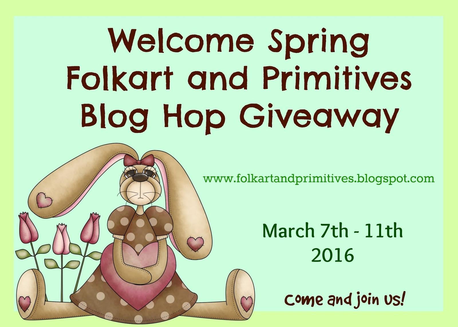 Folkart and Primitives Blog Hop Giveaway