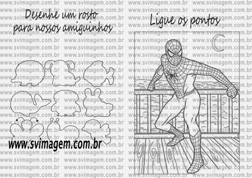 Homem Aranha Revista De Colorir E Atividades Para Lembranca De