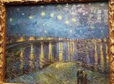 Starry night painting in d'orsay museum, musée d'orsay paris france