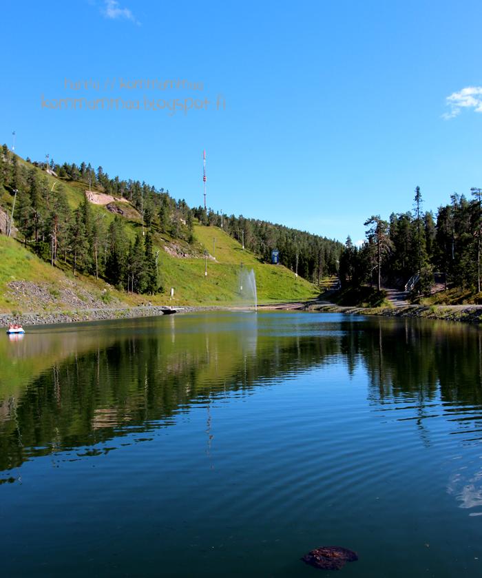ruka lampi kesä kesällä kalastus uinti polkuvene