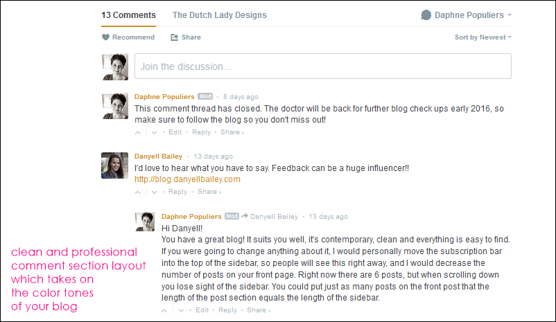 Why I use Disqus to manage my blog comments | The Dutch Lady