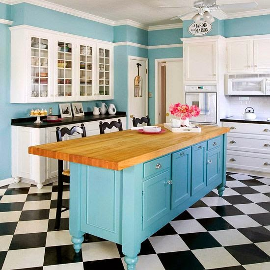 Las 19 Islas De Cocina Vintage Que Te Encantaria Tener En Tu Casa - Cocina-retro-vintage