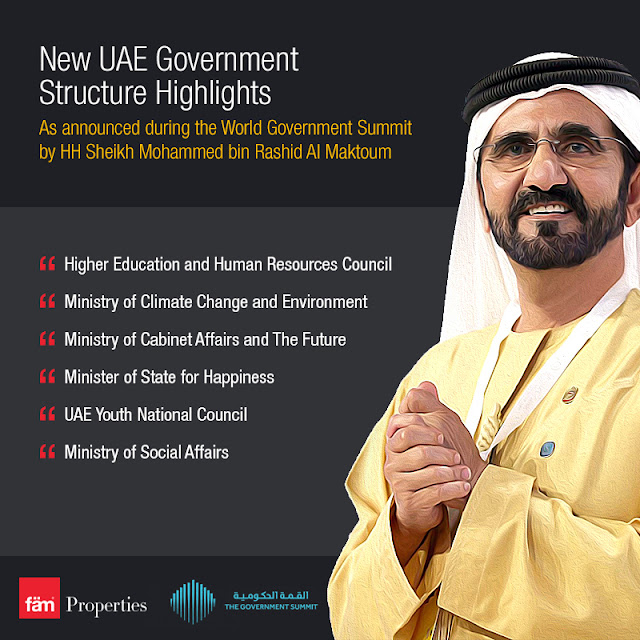 UAE government announced at World Government Summit by Sheikh Mohammad