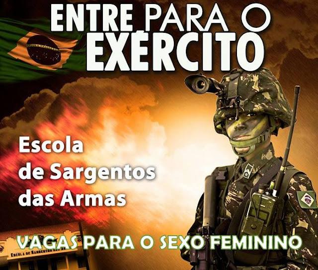 Concurso: Seja SARGENTO do Exército Brasileiro para mulheres