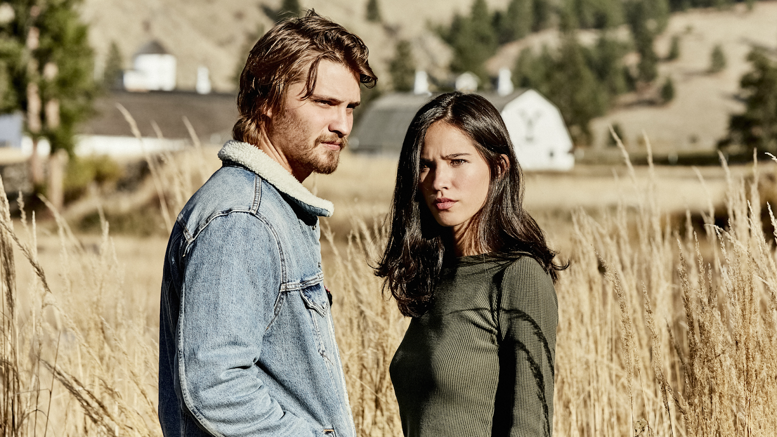 Yellowstone Kayce Dutton Luke Grimes Monica Long Kelsey Asbille Paramount Network