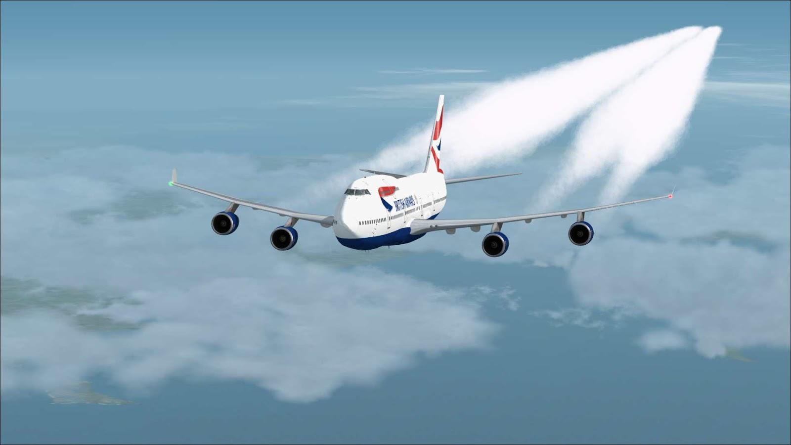 South West Flight Simulation: A Short Tale of Contrails