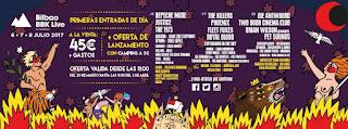 Bilbao BBK Live 2017, distribución por días