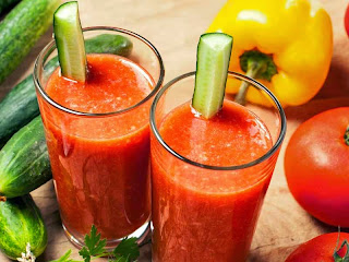 juicer recipes weight loss-tomato and cucumber juice