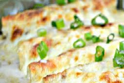 White Chicken Enchiladas With Sour Cream Sauce