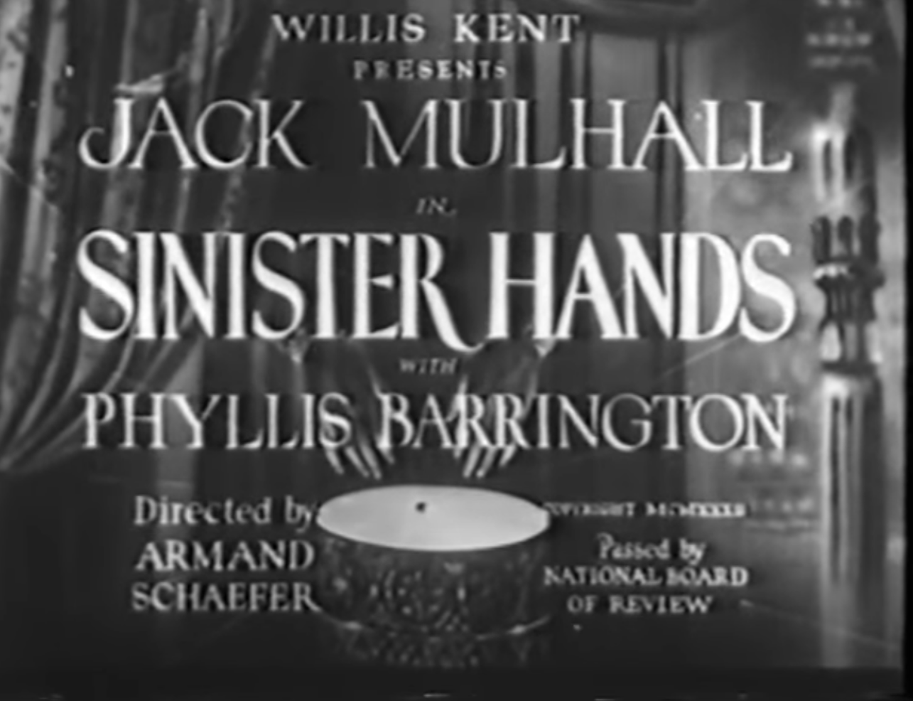 Quota Quickie A Movie Review Blog Sinister Hands 1932