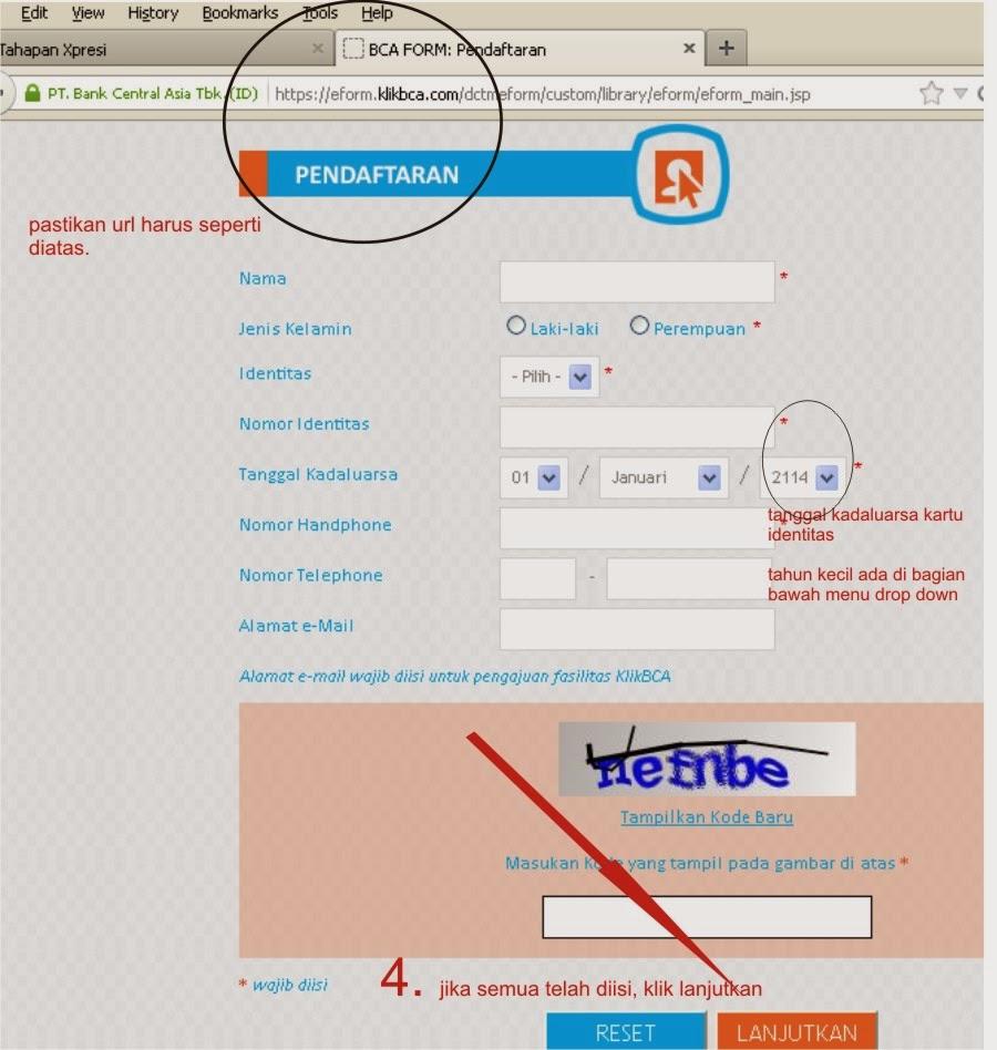 Cara Membuka Rekening BCA Secara Online ( dilengkapi