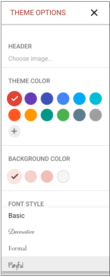 G Suite Updates Blog: Use new theme options to customize and brand