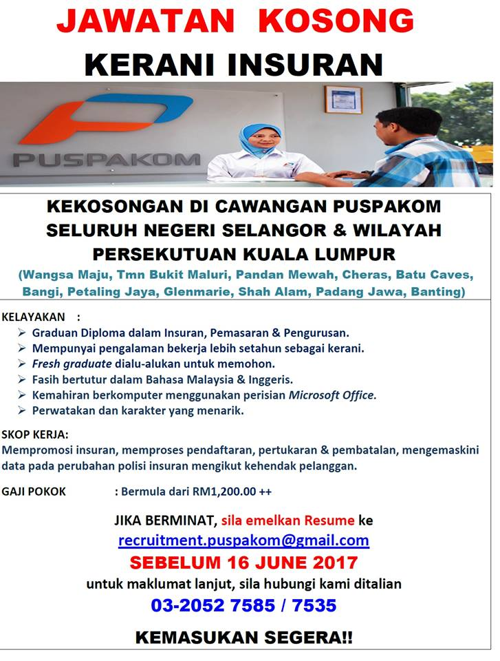 Jawatan Kosong Puspakom Sdn Bhd Mobile