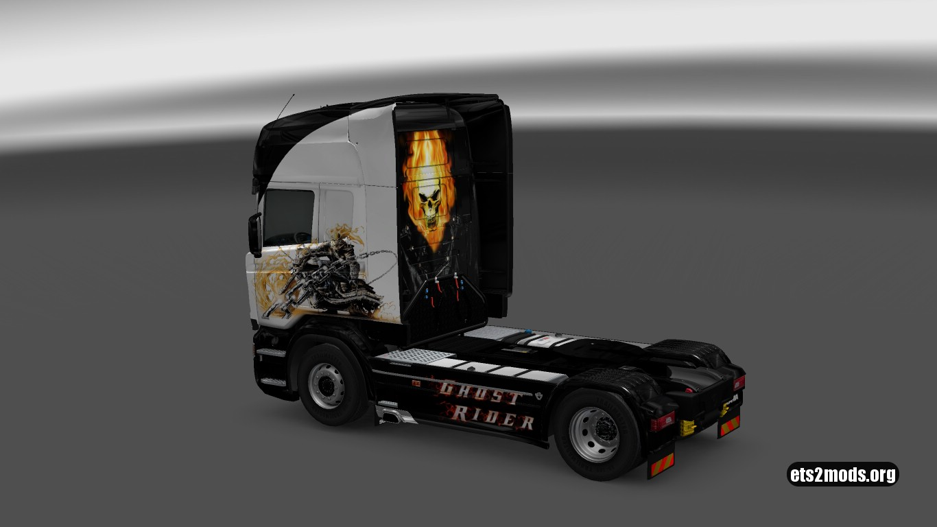 Scania RJL Ghost Rider Skin
