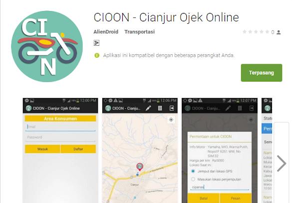 CIOON Aplikasi Ojek Online Kota Cianjur