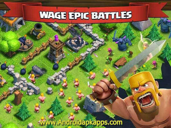 Free Clash of Clans v7.65.5 Mod Hack APK (Unlimited Gold Infinite Gems Dark Elixir) Update Terbaru 2015 Gratis Download