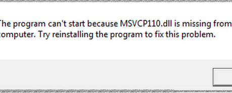 Msvcp110.dll is Missing from your Computer Fix