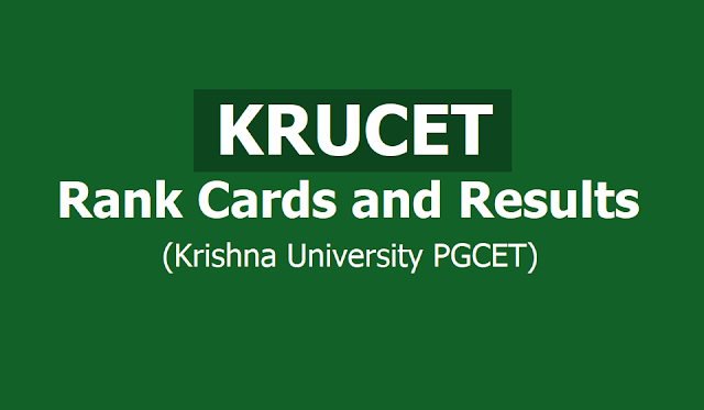 KRUCET 2019 Rank Cards, Results are released on May 15 (KRUPGCET)