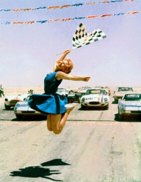 Vintage Flag Girl