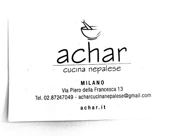 achar ristorante nepalese