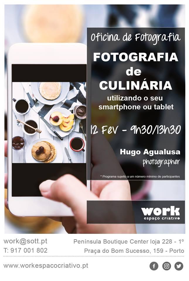 Workshop de fotografia de culinária (usando smartphone ou tablet) – Porto