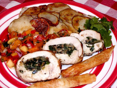 http://www.food.com/recipe/land-and-sea-white-meat-version-of-surf-and-turf-116469