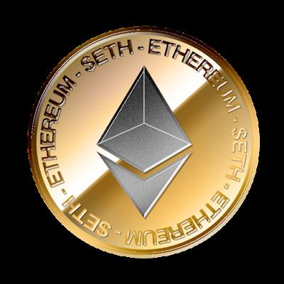 イーサリアム(Ethereum)のフリー素材(金貨灰色ver)