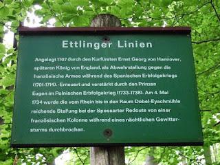 Informationstafel zur Ettlinger Linie
