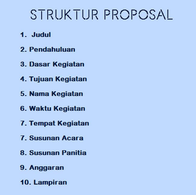struktur penulisan proposal
