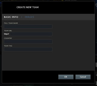 Create New Team Dota 2